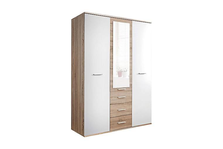 DINO Garderob 135x55x191 cm - Beige/Vit - Möbler & Inredning - Förvaring - Garderober