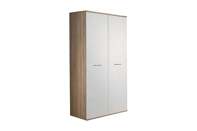 DINO Garderob 90x55x191 cm - Beige/Vit - Möbler & Inredning - Förvaring - Garderober