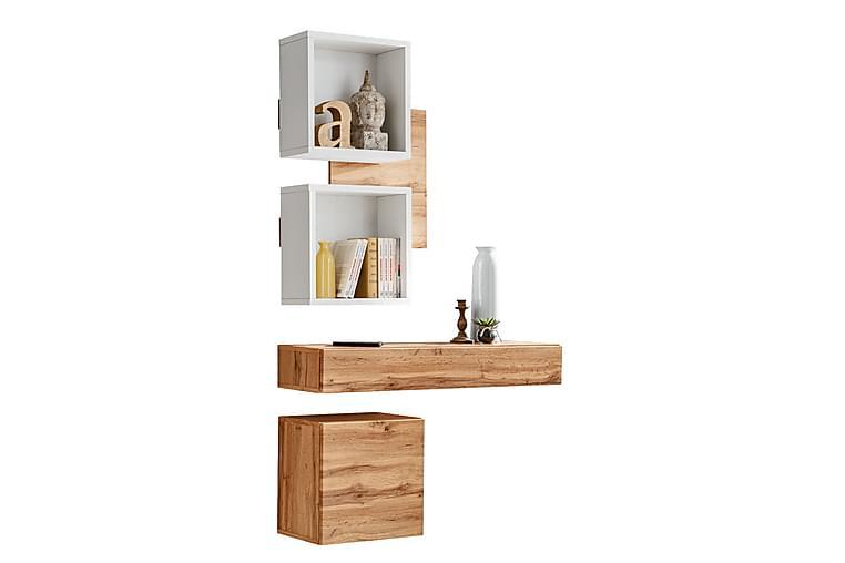 Garderob 30 cm - Vit - Möbler & Inredning - Förvaring - Garderober