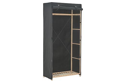 Garderob 79x40x170 cm grå tyg, Garderober thumbnail