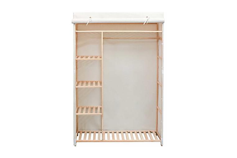 Garderob i tyg och furu 110x40x170 cm - Vit - Möbler & Inredning - Förvaring - Garderober