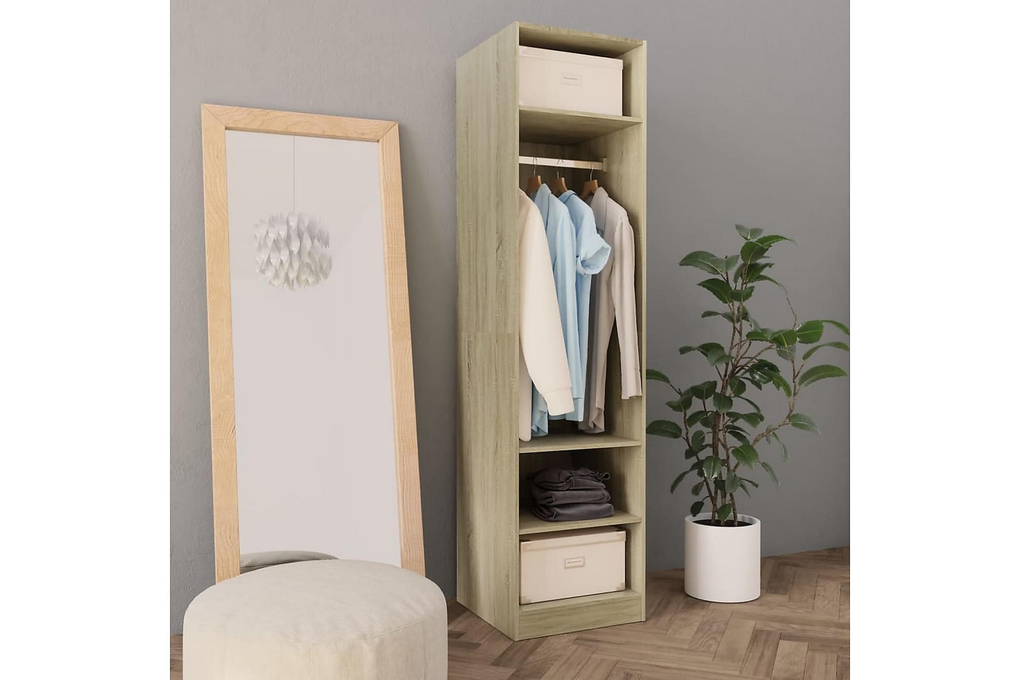 Garderob sonoma-ek 50x50x200 cm spånskiva