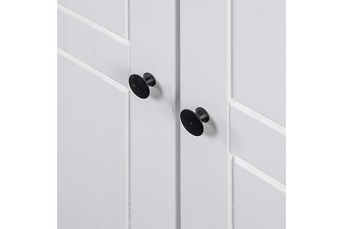 Garderob vit 80x50x171,5 cm massiv furu panama - Vit - Möbler & Inredning - Förvaring - Garderober