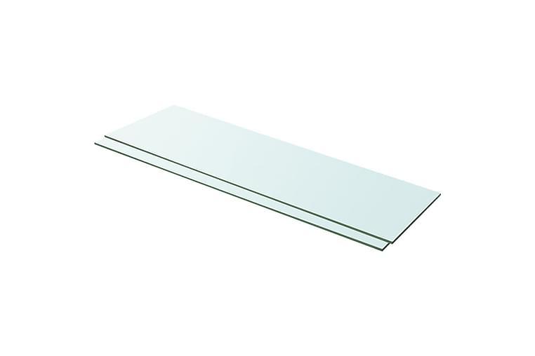 Hyllplan 2 st glas genomskinligt 100x30 cm - Transparent - Möbler & Inredning - Förvaring - Garderober