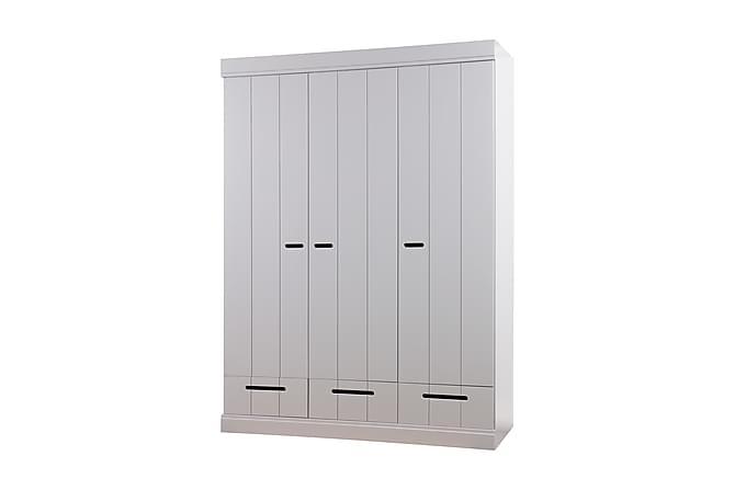 KOTONE Garderob 140 3 Dörrar 3 Lådor Grå Tall - Inomhus - Förvaring - Garderober