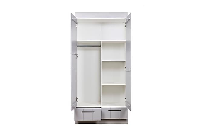 KOTONE Garderob 2 Dörrar 2 Lådor Vit - Möbler & Inredning - Förvaring - Skåp