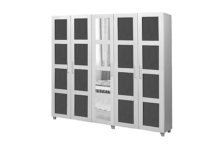 LAITE Garderob 201 cm Vit/Antracit - Möbler & Inredning - Förvaring - Garderober