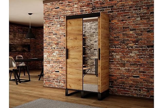 Loft Garderob 100x62x212 cm - Brun - Inomhus - Förvaring - Garderober