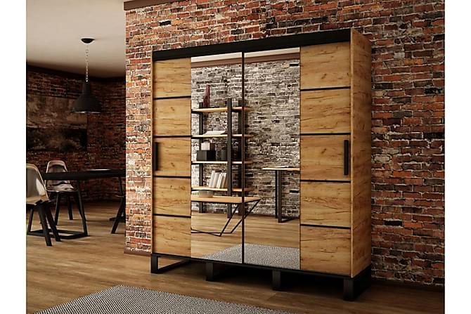 Loft Garderob 180x62x212 cm - Brun - Inomhus - Förvaring - Garderober