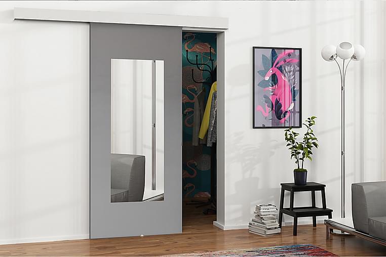 MALIBU Dörr 204x86x5 cm - Antracit/Spegel - Möbler & Inredning - Förvaring - Garderober