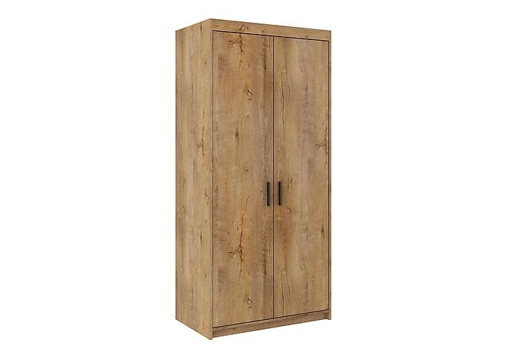 SHOGO Garderob 90x53x191 cm - Beige - Möbler & Inredning - Förvaring - Garderober