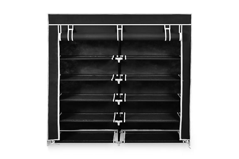 Skogarderob med överdrag 115x28x110 cm svart - Svart - Möbler & Inredning - Förvaring - Garderober