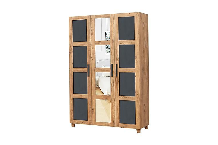 THROSTLE Garderob 189 cm Trä/natur/Antracit - Möbler & Inredning - Förvaring - Garderober