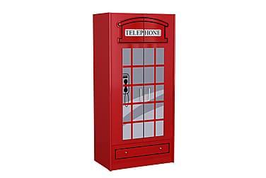 VELLEVIK Garderob London Telefonkiosk Röd