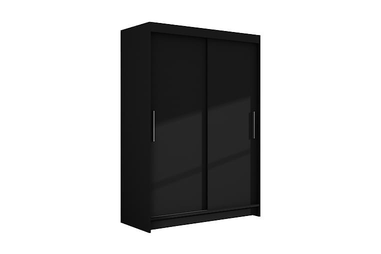 VICK Garderob 120 Skjutdörrar Svart - Svart - Möbler & Inredning - Förvaring - Garderober