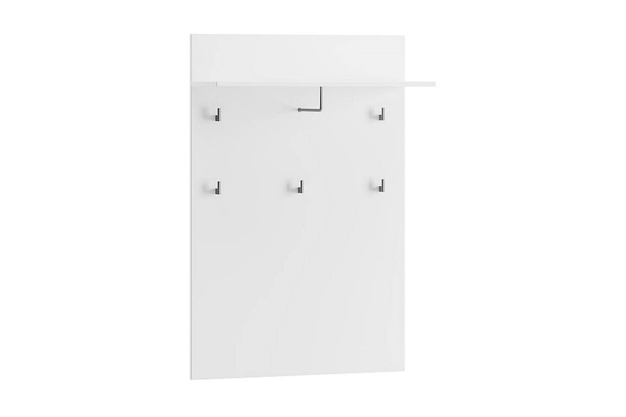 AYLIN Hallmöbel 79 Vit/Vit Högglans, Klädförvaringssystem