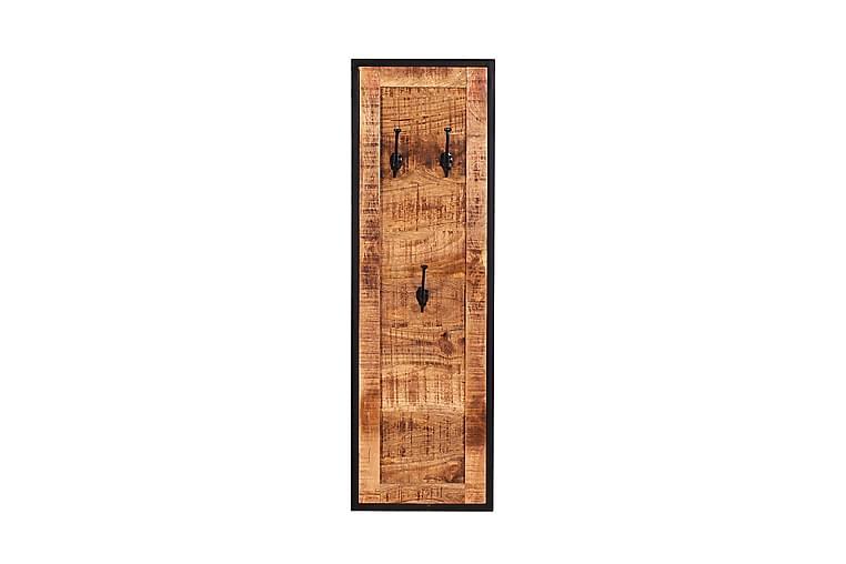 LAIDA Klädkrokar 35x3 cm Svart/Mango/Natur - Möbler & Inredning - Förvaring - Klädhängare & hängare