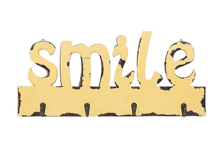 Väggkrokar SMILE 50x23 cm - Gul - Möbler & Inredning - Förvaring - Klädhängare & hängare