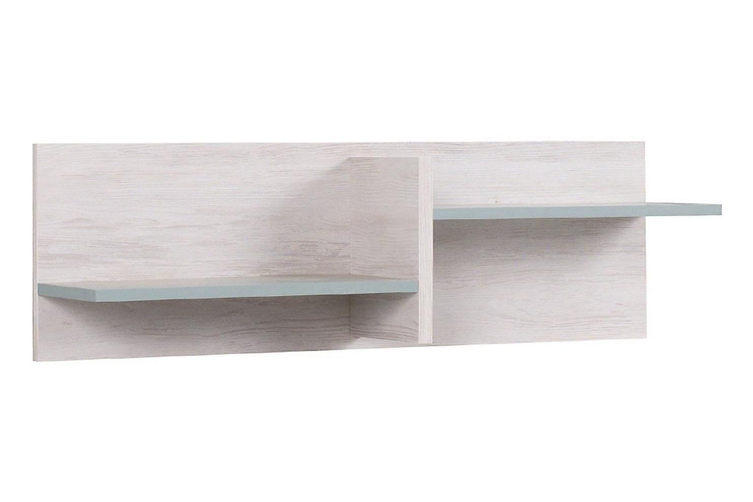 Norrhace vägghylla 100 vit/blå