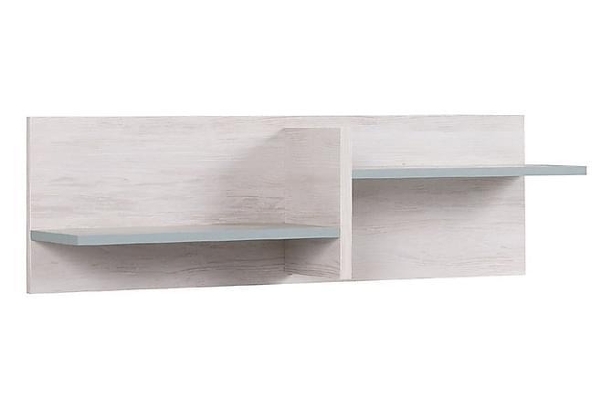 NORRHACE Vägghylla 100 Vit/Blå - Vit/Blå - Möbler & Inredning - Förvaring