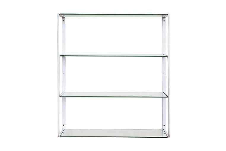 PACIANO Vägghylla 59 Metall/Glas/Vit - Möbler & Inredning - Förvaring - Hyllor