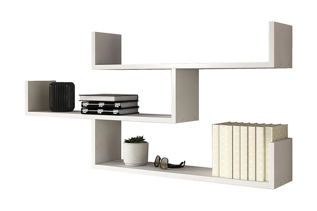 Trio Vägghylla 119x18x55 cm - Vit - Möbler & Inredning - Förvaring - Hyllor