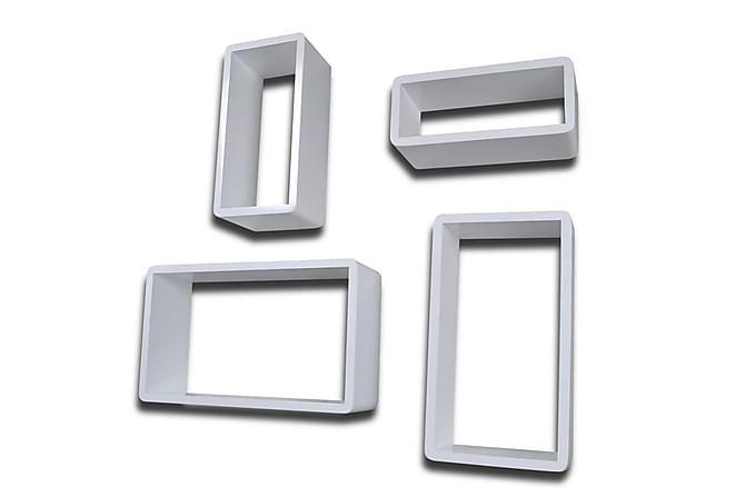 Vägghyllor kub 8 st vit - Vit - Möbler & Inredning - Förvaring - Hyllor