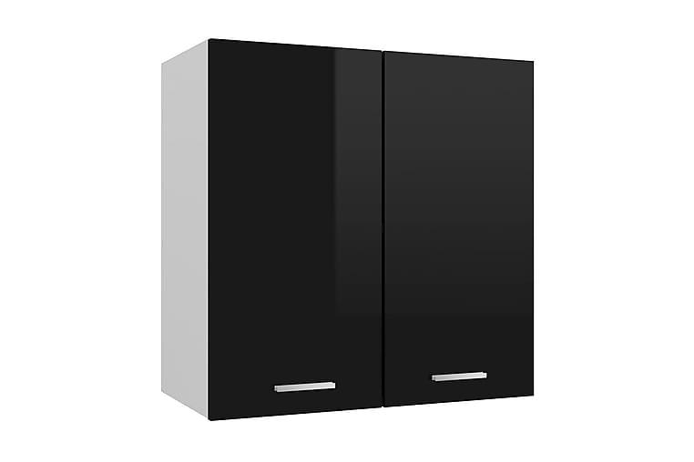 Väggskåp svart högglans 60x31x60 cm spånskiva - Svart - Möbler & Inredning - Inredning - Köksskåp