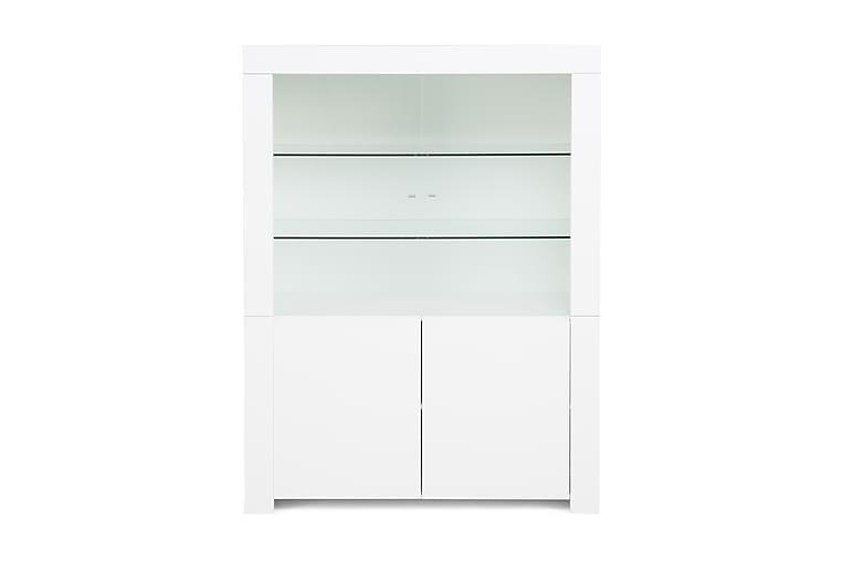 BAVENO Vitrinskåp 123 2 Dörrar Vit - Möbler & Inredning - Förvaring - Vitrinskåp