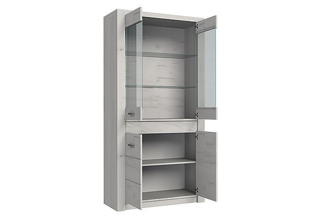 INDIANAPOLIS Vitrinskåp 96x42x192 cm - Brun - Möbler & Inredning - Förvaring - Vitrinskåp