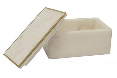 CIARA Smyckeskrin Vit/Marmor/Mässing