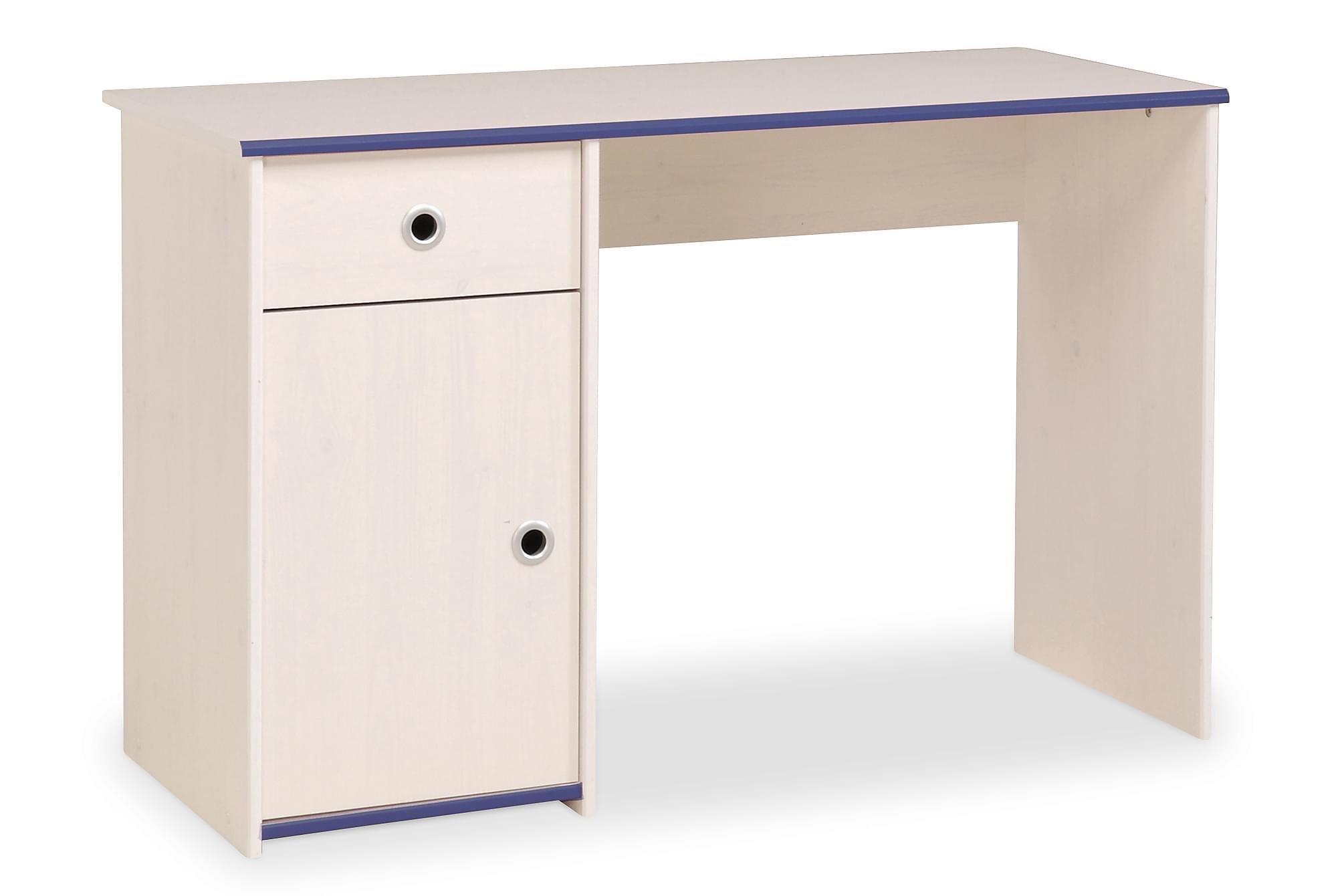 CHELSEA Skrivbord 121 Vit/Rosa /Blå, Barnbord