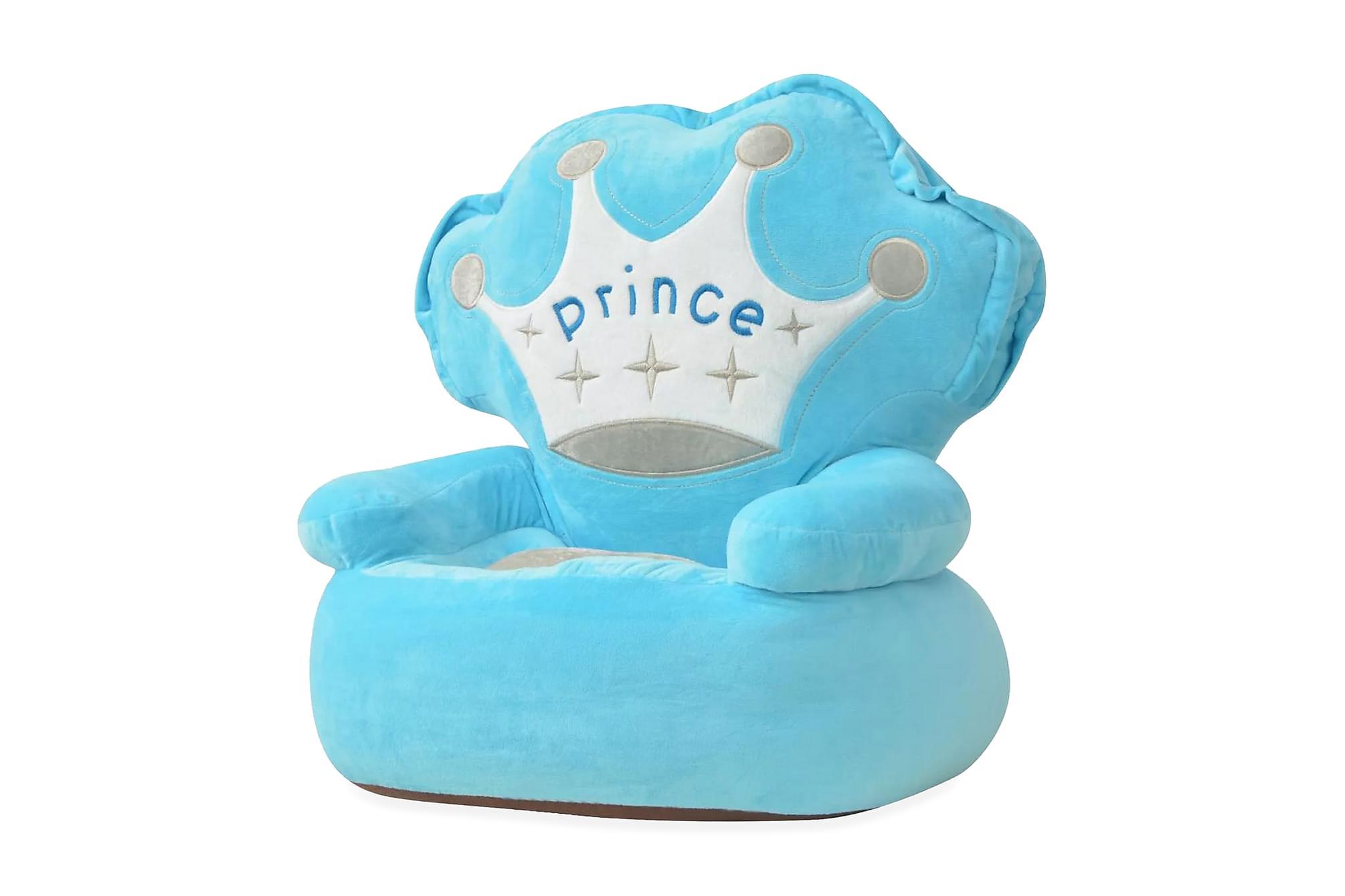 Barnstol i plysch prins blå, Barnfåtöljer