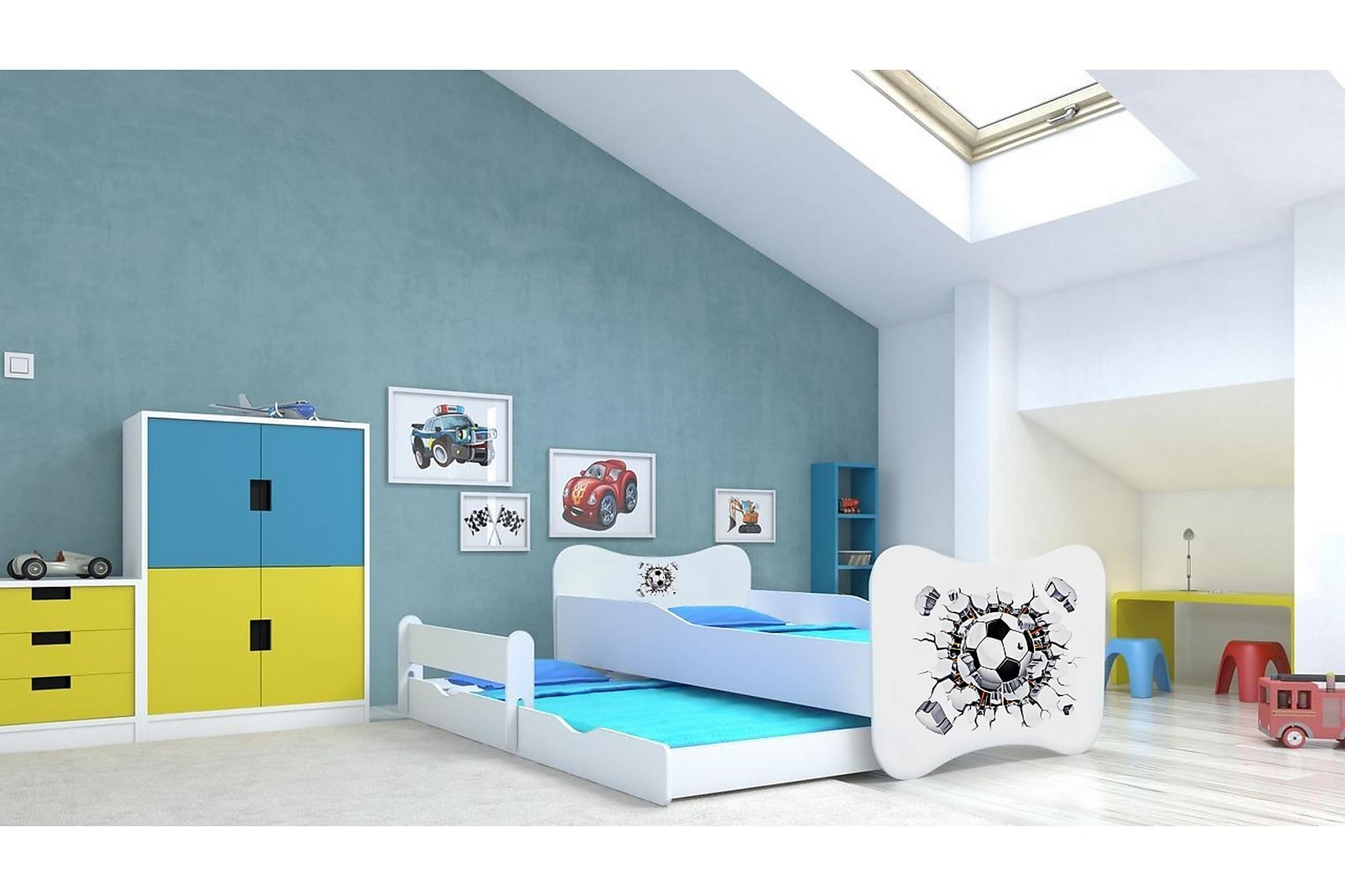 ALETHA Barnsäng Batman 80x160 LED Blå, Barnsängar & juniorsängar
