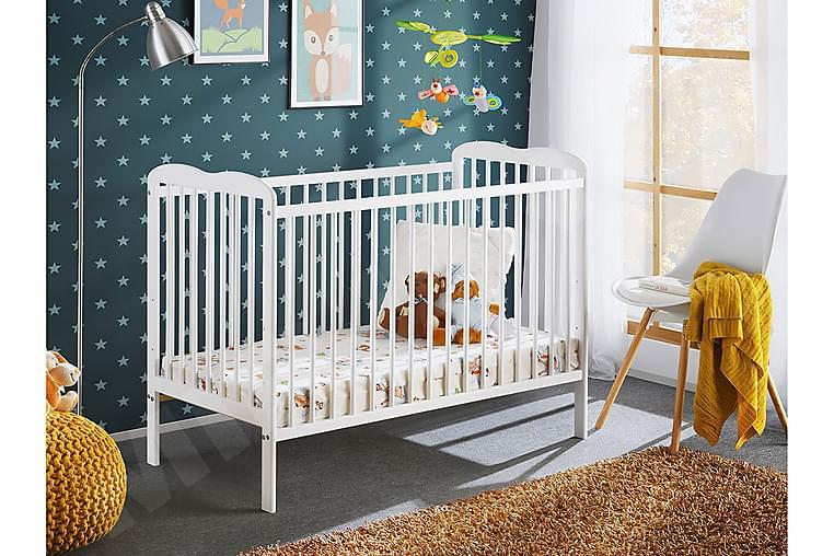 RAFAELA Barnsäng 71x85x124 cm - Vit - Möbler & Inredning - Barnmöbler - Barnsängar & juniorsängar