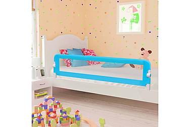 Sängskena för barn blå 180x42 cm polyester