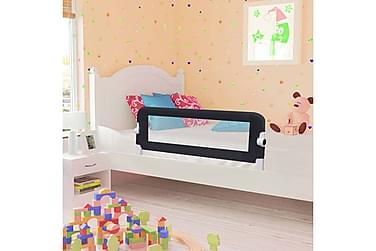 Sängskena för barn grå 120x42 cm polyester