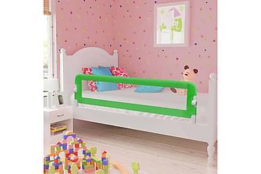 Sängskena för barn grön 120x42 cm polyester