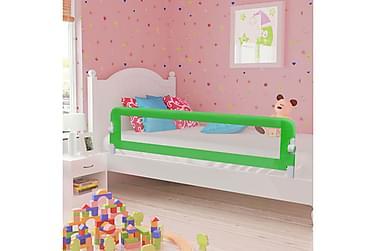 Sängskena för barn grön 180x42 cm polyester