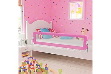 Sängskena för barn rosa 180x42 cm polyester