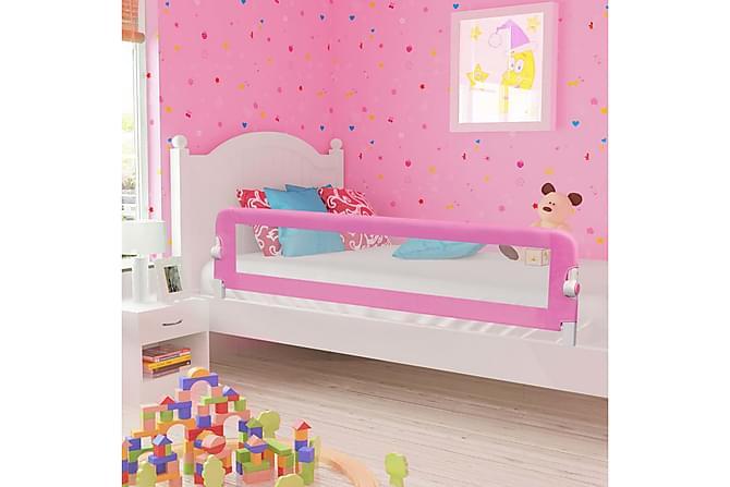 Sängskena för barn rosa 180x42 cm polyester - Rosa - Möbler & Inredning - Barnmöbler - Barnsängar & juniorsängar