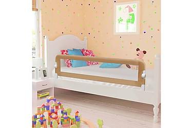 Sängskena för barn taupe 150x42 cm polyester