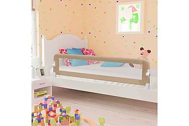 Sängskena för barn taupe 180x42 cm polyester