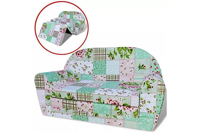 Bäddsoffa för barn blommigt mönster - Flerfärgad - Möbler & Inredning - Barnmöbler - Barnsoffor