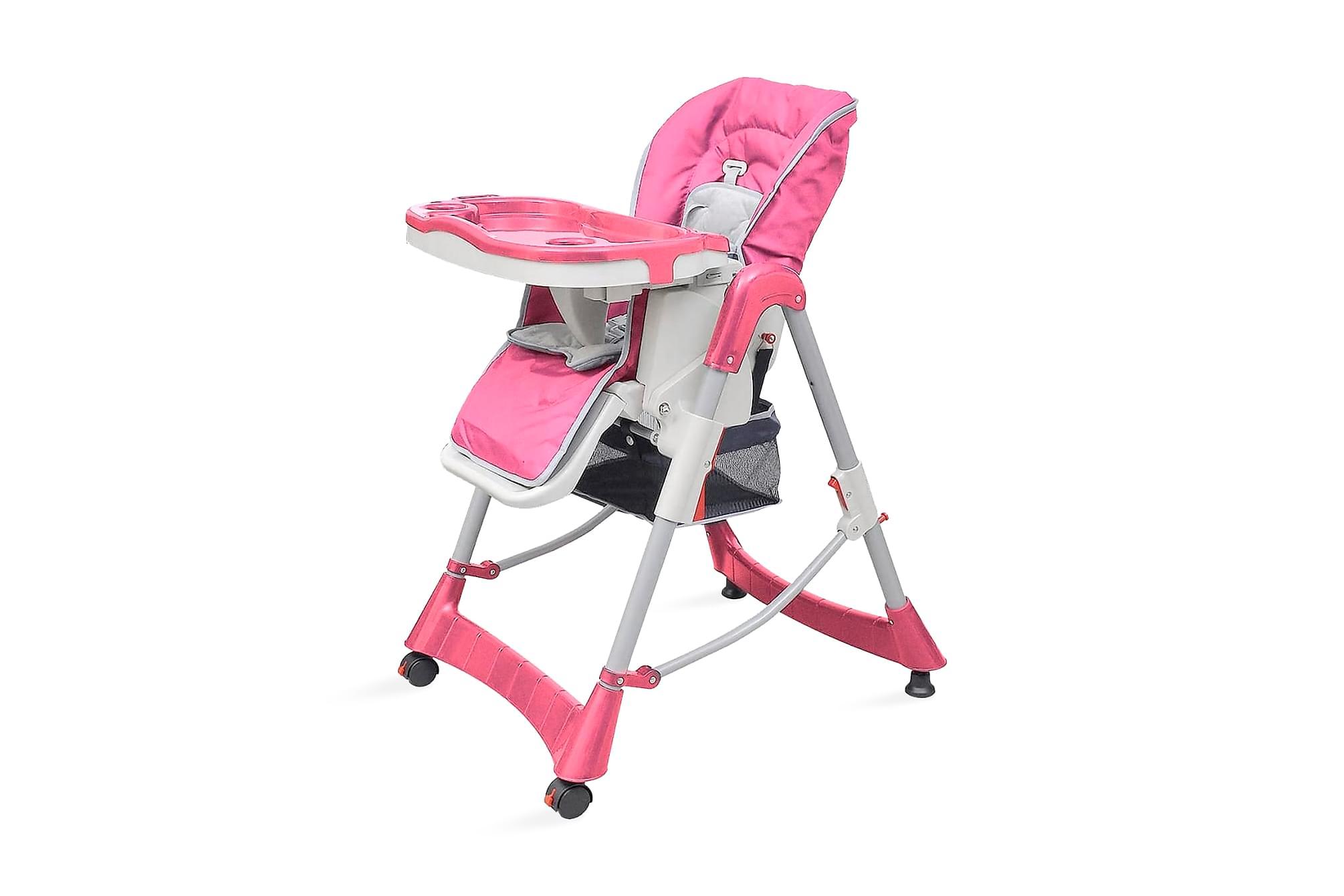 Barnstol Deluxe höjdjusterbar rosa, Barnstolar