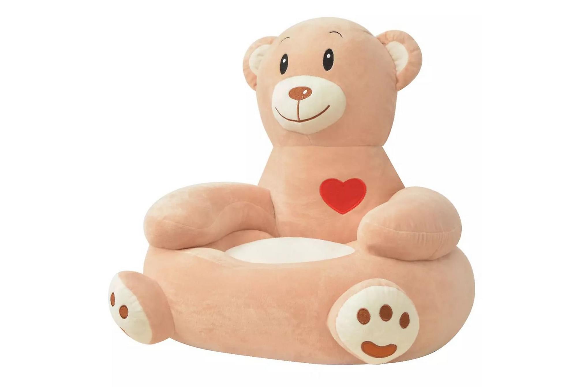 Barnstol i plysch björn brun, Barnstolar