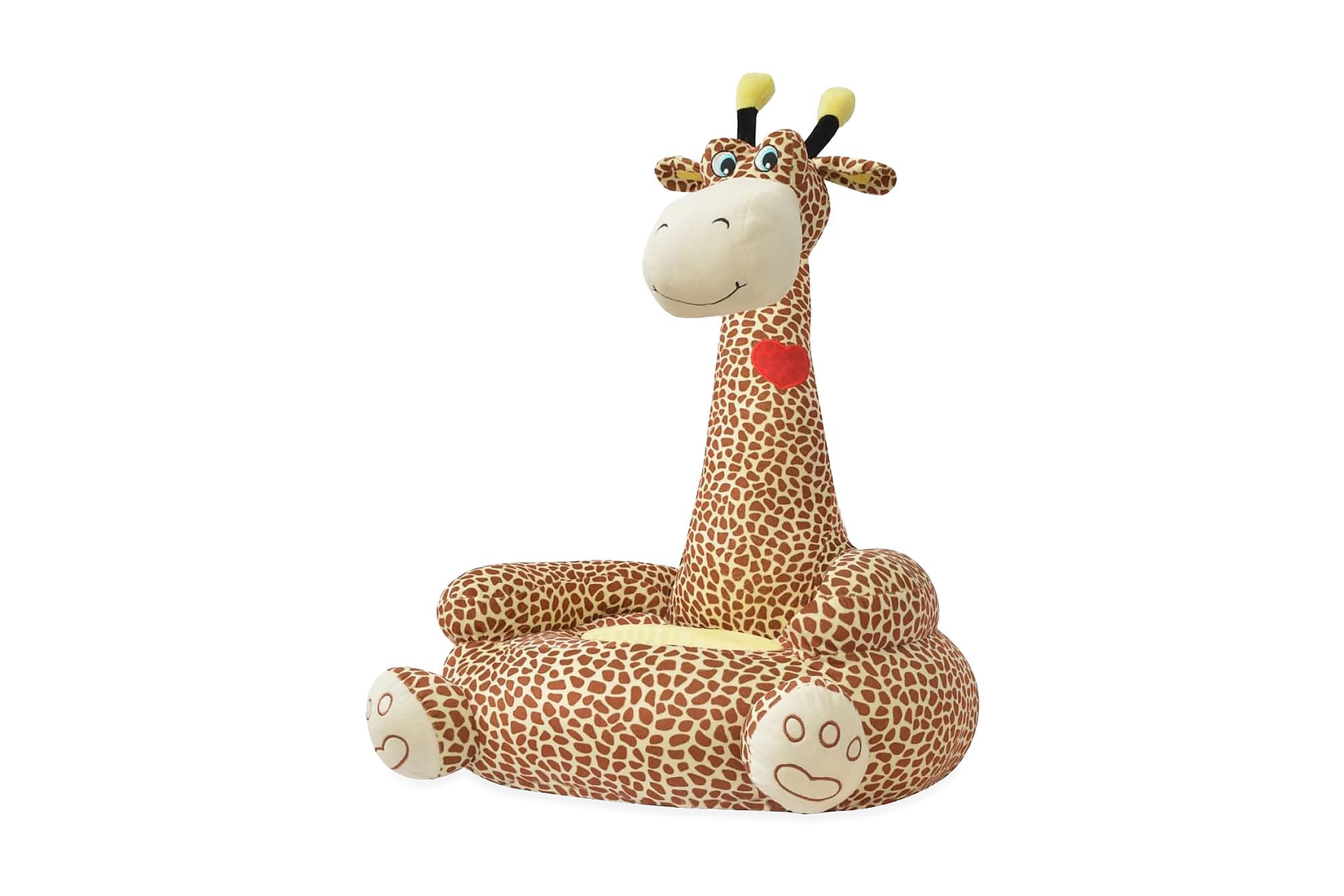 Barnstol i plysch giraff brun, Barnstolar