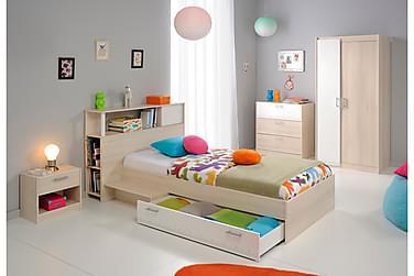 DESIDERIA Garderob 85 2 Dörrar Brun/Vit