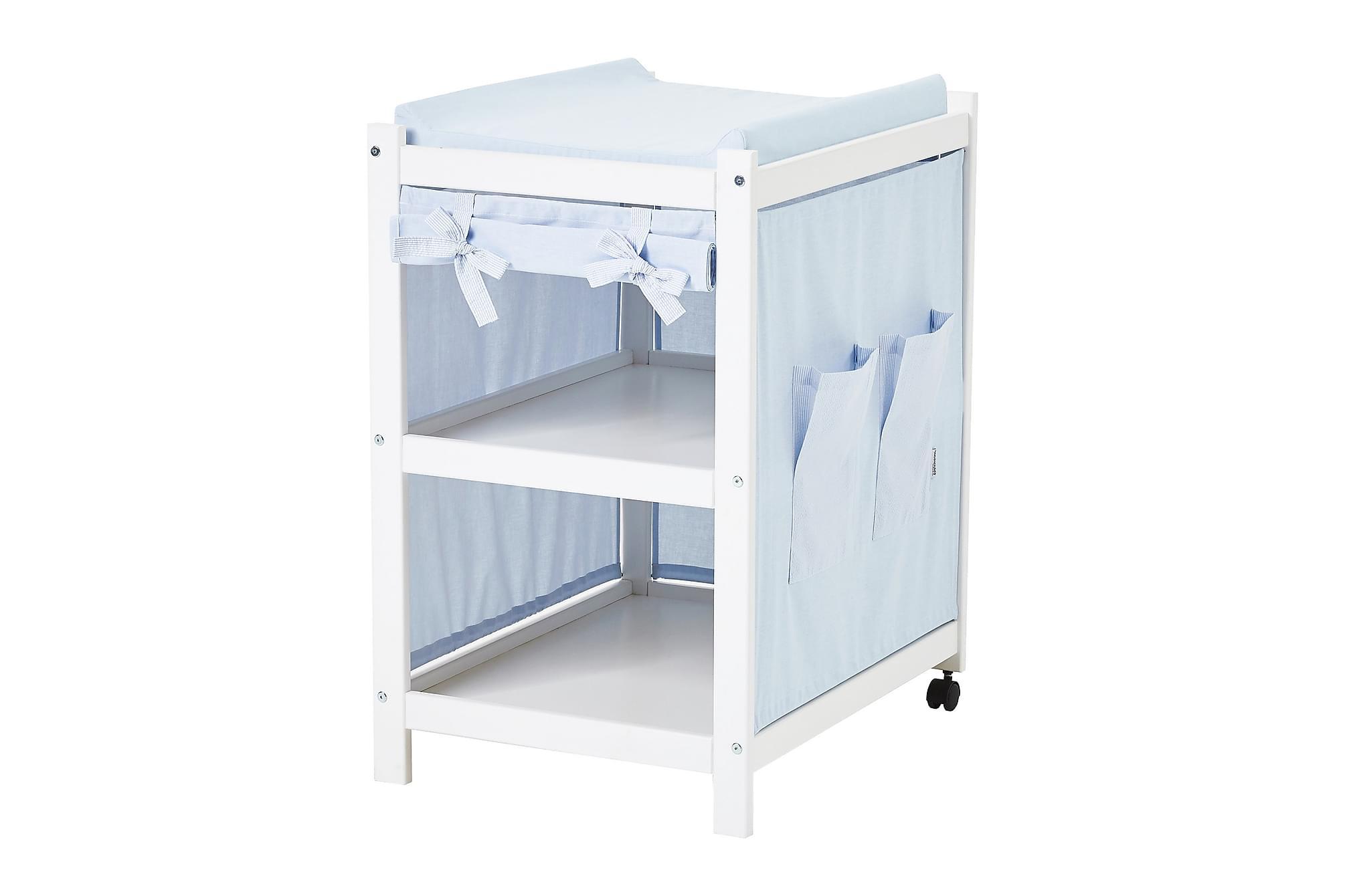 IDA-MARIE Skötbord med Tyg Ljusblå