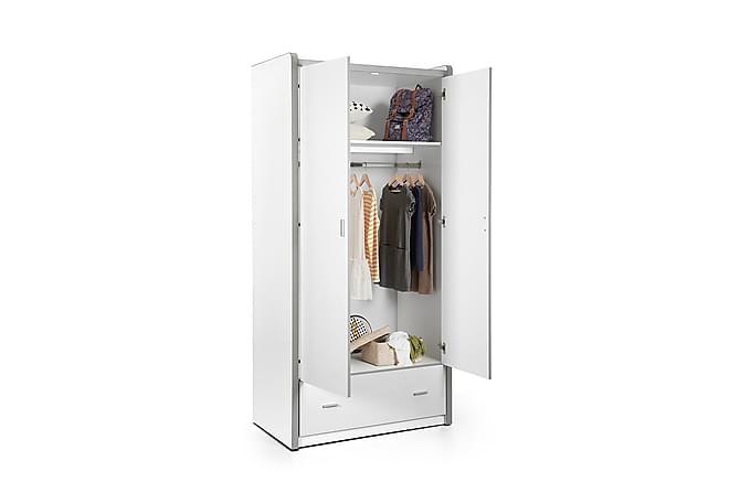 LONDYLL Garderob 2 Dörrar Vit - Möbler & Inredning - Barnmöbler - Förvaring barnrum